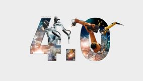 Free Industry 4.0 Concept, Iot, Automation Robot Arms Machine And Monitoring System Software, Welding Robotics And Digital Stock Images - 162019794