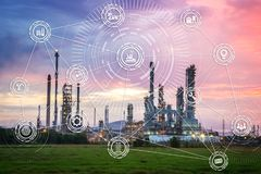Industry 4.0: The Industrial Instruments Stock Images