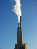 Industry. With chimney and smoke in Spain Royalty Free Stock Photography