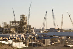 Industry. Industrial plant with many cranes Royalty Free Stock Images