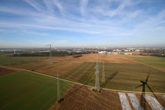 Industry Aerial Picture. Aerial picture of industry and agriculture near Cologne, germany Stock Photo