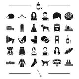 Industry, architecture, animal and other web icon in black style.breed, alcohol, atelier icons in set collection. Stock Photo