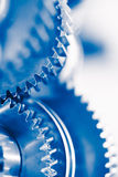 Industry background with blue gear wheels Royalty Free Stock Photos