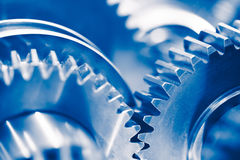 Industry background with blue gear wheels Royalty Free Stock Photography
