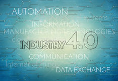 Industry 4.0 Background Digital Theme Royalty Free Stock Photo