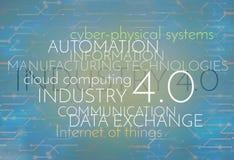 Industry 4.0 Background Digital Theme Stock Image