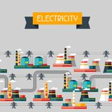 Industry background with industrial power plants Royalty Free Stock Photo