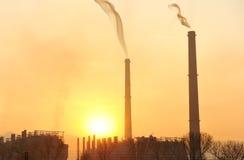 Industry, big chimney Stock Photo