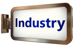 Industry on billboard background. Industry wall light box billboard background , isolated on white Royalty Free Stock Images