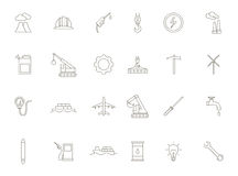 Industry black icons set Royalty Free Stock Photo