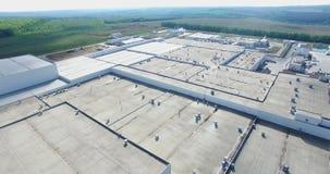 Industry Building Aerial stock footage