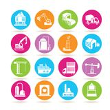 Industry building icons Royalty Free Stock Photography