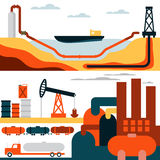Industry business concept of gasoline diesel production fuel Royalty Free Stock Image