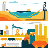 Industry business concept of gasoline diesel production fuel Royalty Free Stock Photography