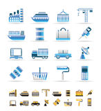 Industry and Business icons Stock Photos