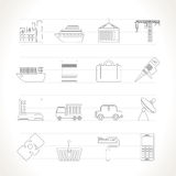 Industry and Business icons Stock Photography