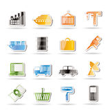Industry and Business icons Royalty Free Stock Photo