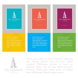 Industry cards, derrick symbol. Royalty Free Stock Images