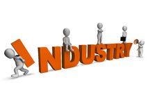 Industry Characters Shows Industrial Workplace Or Manufacturing Stock Photo
