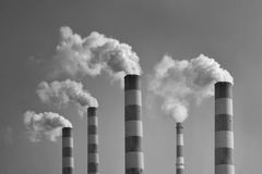 Pollution Industry chimney Royalty Free Stock Photography