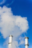 Industry chimney with exhaust gases Royalty Free Stock Photos
