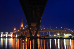 Industry Circle Bridge at dusk in Bangkok, Stock Image