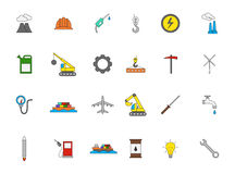 Industry colorful icons set. Set of 24 Industry colorful icons Royalty Free Stock Images