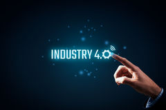 Industry 4.0 concept Stock Image