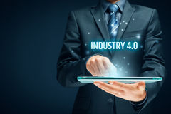 Industry 4.0 concept royalty free stock photography