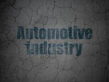 Industry concept: Automotive Industry on grunge wall. Industry concept: Blue Automotive Industry on grunge textured concrete wall background royalty free illustration