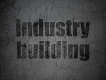 Industry concept: Industry Building on grunge wall background. Industry concept: Black Industry Building on grunge textured concrete wall background stock illustration