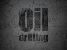 Industry concept: Oil Drilling on grunge wall background. Industry concept: Black Oil Drilling on grunge textured concrete wall background royalty free illustration