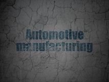Industry concept: Automotive Manufacturing on grunge wall background. Industry concept: Blue Automotive Manufacturing on grunge textured concrete wall background vector illustration
