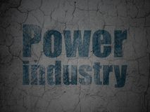Industry concept: Power Industry on grunge wall background. Industry concept: Blue Power Industry on grunge textured concrete wall background vector illustration