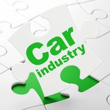 Industry concept: Car Industry on puzzle background Royalty Free Stock Image