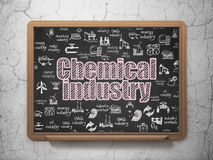 Industry concept: Chemical Industry on School board background. Industry concept: Chalk Pink text Chemical Industry on School board background with  Hand Drawn Stock Photography