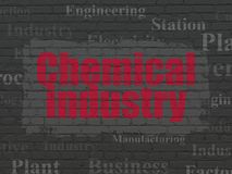 Industry concept: Chemical Industry on wall background Stock Image