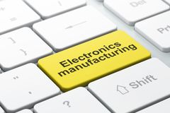 Industry concept: Electronics Manufacturing on computer keyboard background. Industry concept: computer keyboard with word Electronics Manufacturing, selected Stock Photography