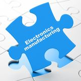 Industry concept: Electronics Manufacturing on puzzle background Royalty Free Stock Photo