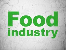 Industry concept: Food Industry on wall background. Industry concept: Green Food Industry on textured concrete wall background vector illustration