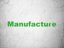Industry concept: Manufacture on wall background. Industry concept: Green Manufacture on textured concrete wall background royalty free illustration