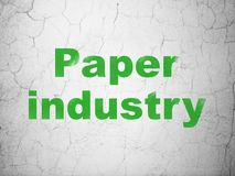 Industry concept: Paper Industry on wall background. Industry concept: Green Paper Industry on textured concrete wall background stock illustration