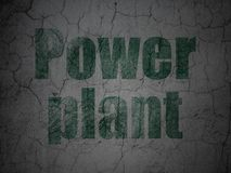 Industry concept: Power Plant on grunge wall background. Industry concept: Green Power Plant on grunge textured concrete wall background vector illustration