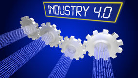 Industry 4.0 concept illustration infographic cogs Stock Photos