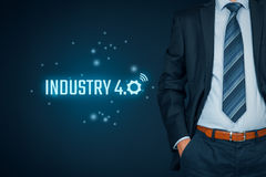 Industry 4.0 concept stock images
