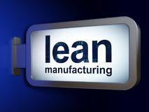 Industry concept: Lean Manufacturing on billboard background. Industry concept: Lean Manufacturing on advertising billboard background, 3D rendering Stock Image