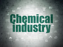 Industry concept: Chemical Industry on Digital Data Paper background Stock Photography