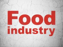 Industry concept: Food Industry on wall background. Industry concept: Red Food Industry on textured concrete wall background vector illustration