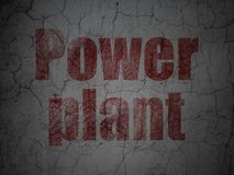 Industry concept: Power Plant on grunge wall background. Industry concept: Red Power Plant on grunge textured concrete wall background royalty free illustration