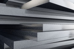 Industry concept. Stack of marble plates. Extreme closeup royalty free stock photography
